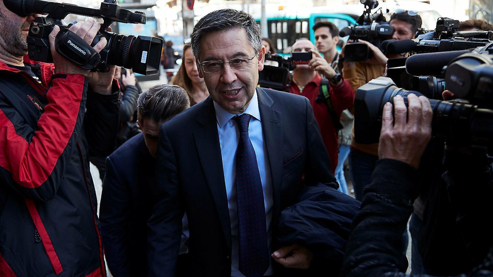 Josep Maria Bartomeu, president del Barça, arribant al Fòrum Barcelona Capital.