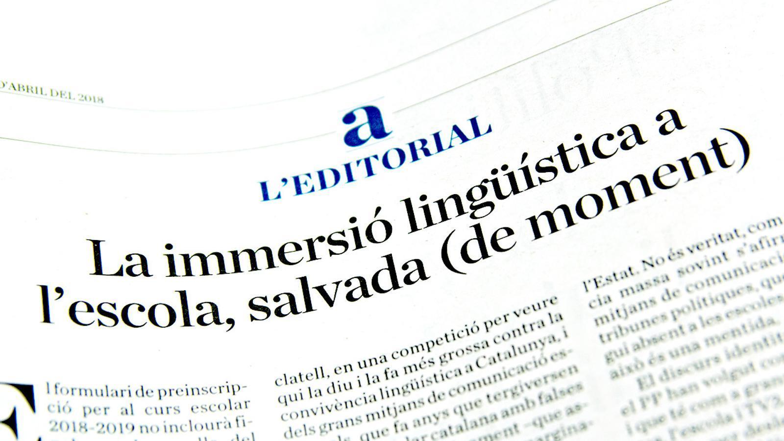 L'anàlisi d'Antoni Bassas: 'Per què els pares no poden triar llengua a l'escola?'