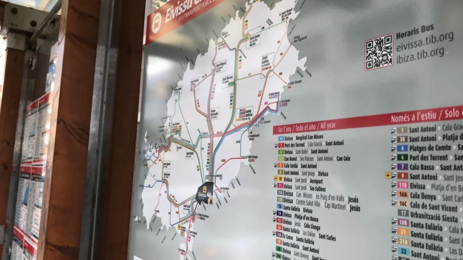 El nou plànol de línies de transport públic