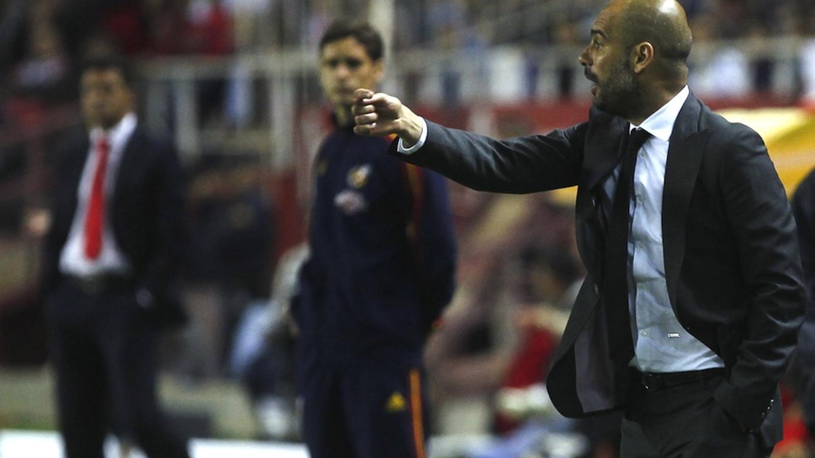Pep Guardiola, a Sevilla