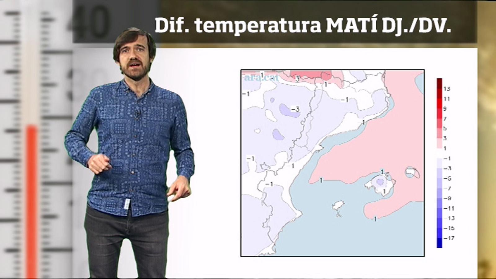 La méteo en 1 minut: nits fredes abans d'un Sant Jordi càlid