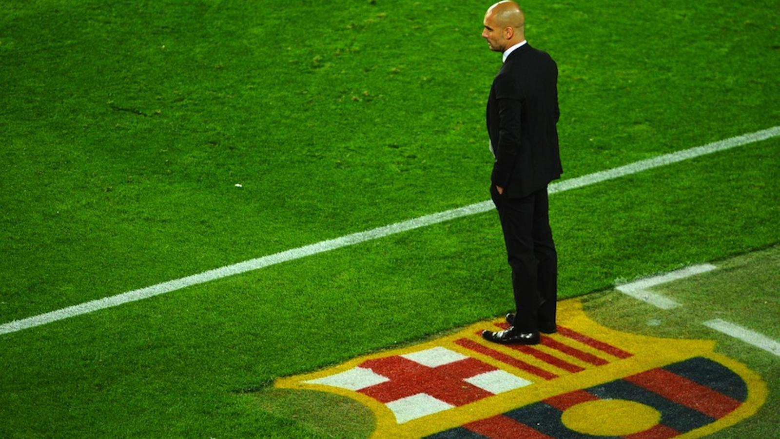 Pep Guardiola, al Camp Nou / PIERRE-PHILIPPE MARCOU / AFP PHOTO