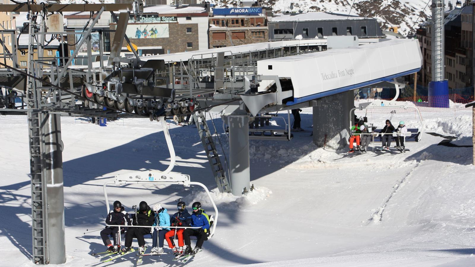Esquiadors al Pas de la Casa. / M. M. (ANA)