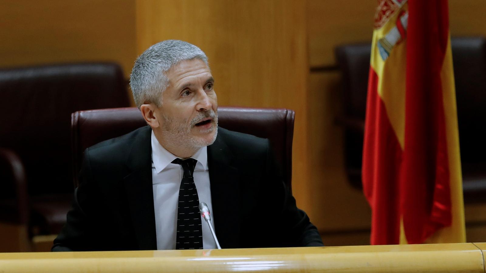 """Marlaska reitera que la destitució de De los Cobos es va fer per una """"redefinició dels equips de treball"""""""