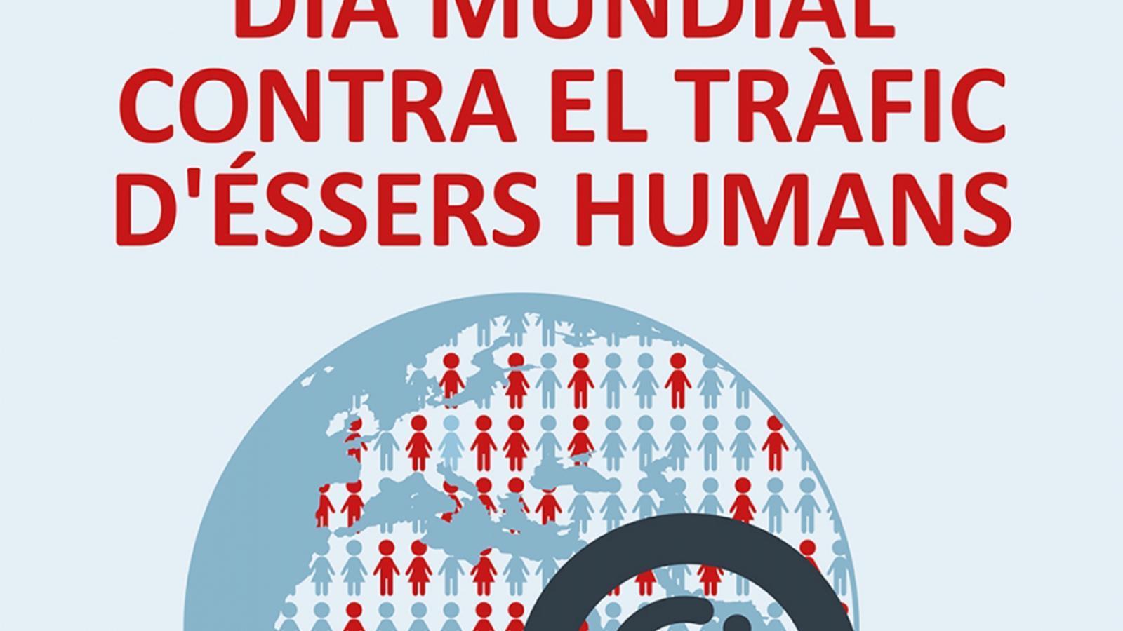 Cartell del Dia mundial contra el tràfic d'éssers humans. / GOVERN D'ANDORRA