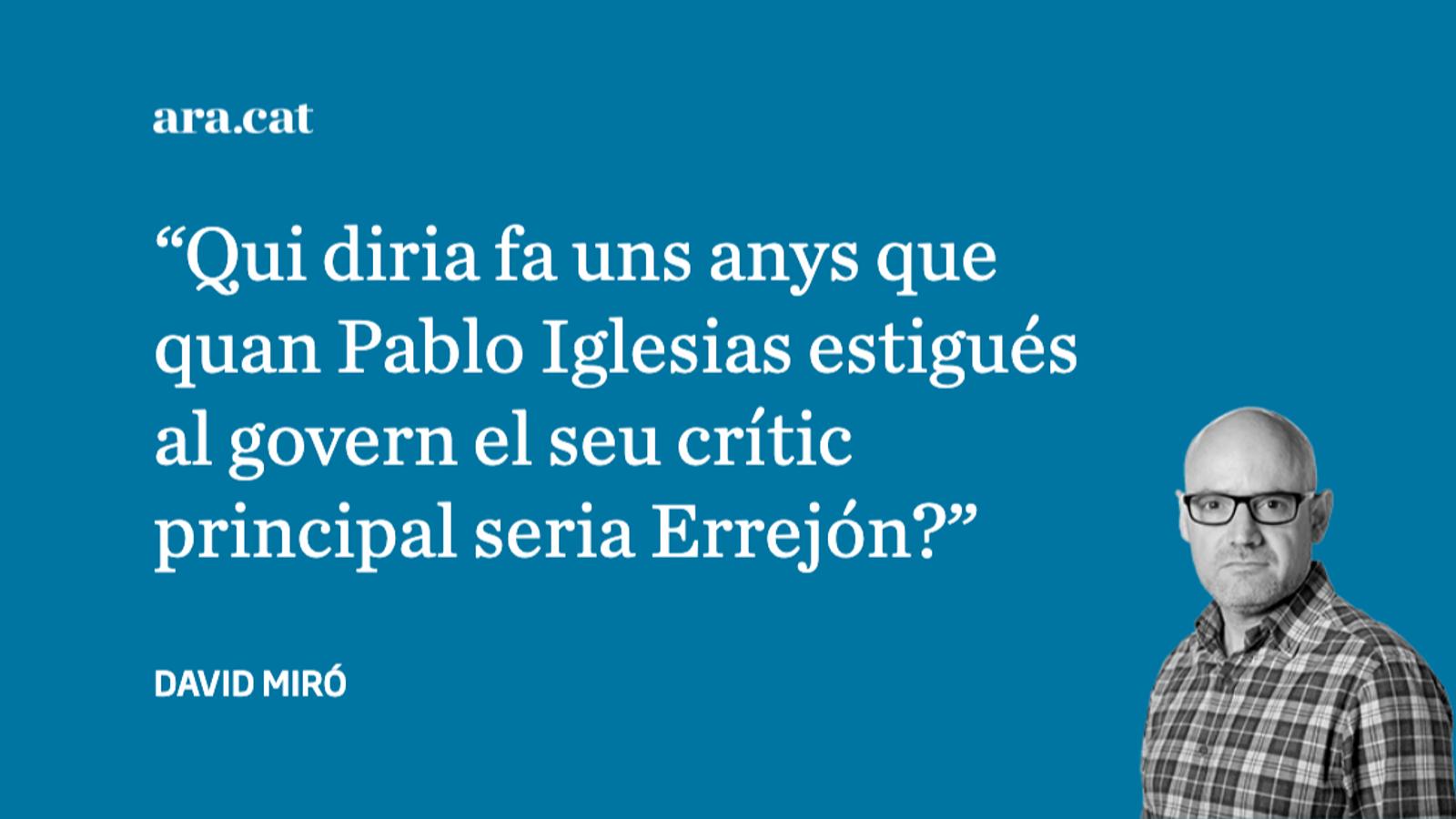 Errejón critica els seus antics companys des d''El Mundo'