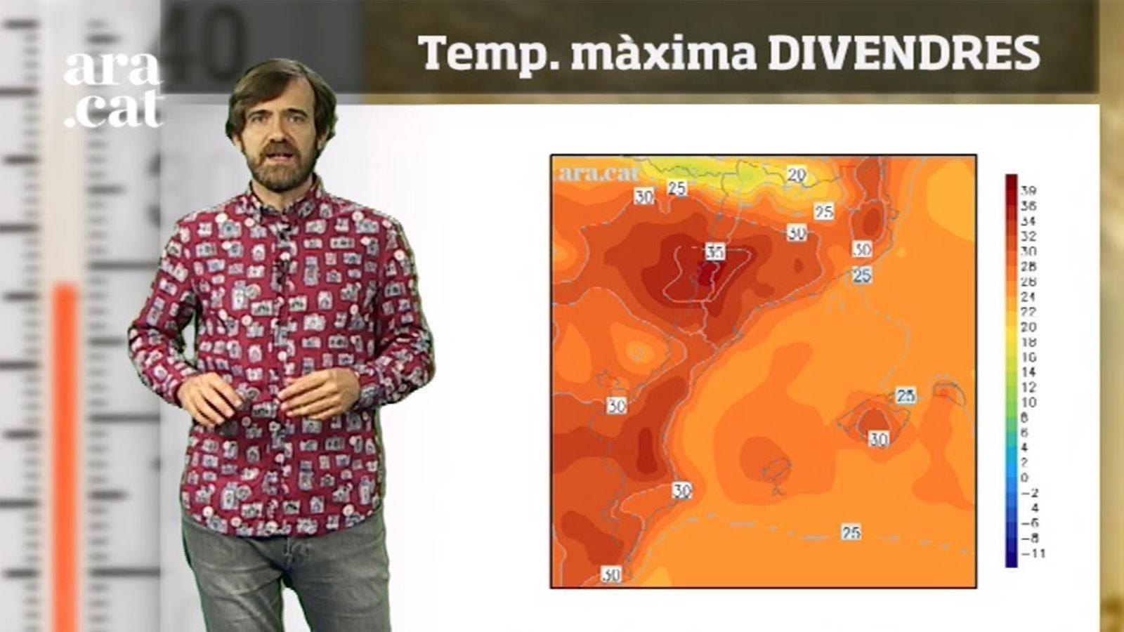 La méteo en 1 minut: temperatures de fins a 35 graus fins al cap de setmana