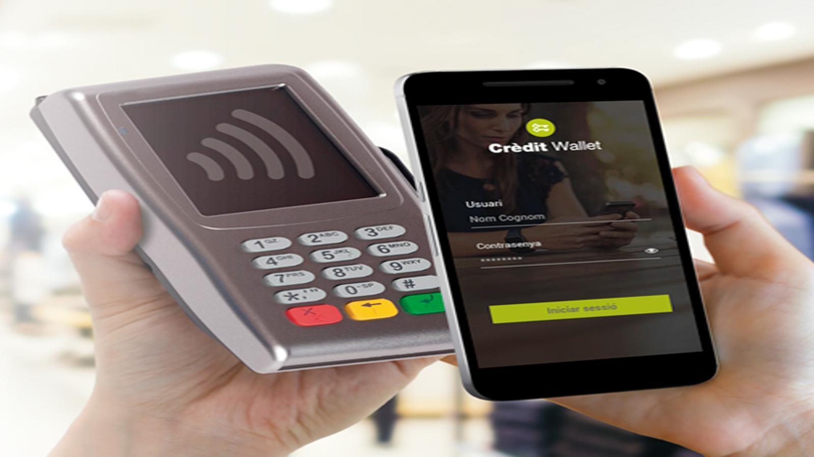 El producte Crèdit Wallet, nou servei de banca digital de Crèdit Andorrà. / CRÈDIT ANDORRÀ