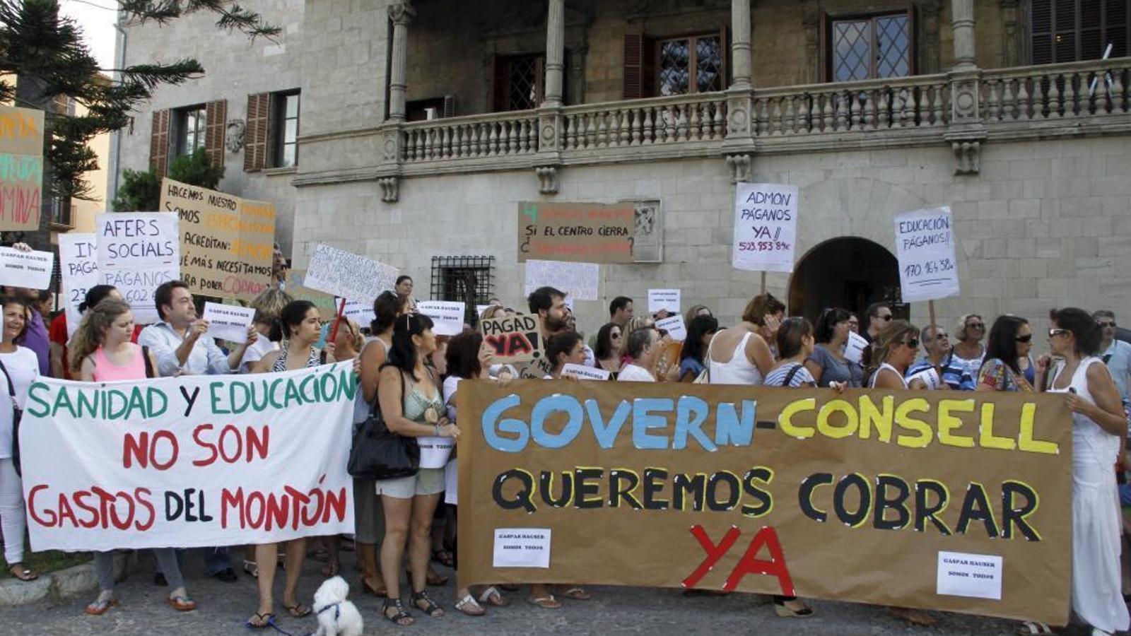 Imatge d'una de les concentracions dels treballadors