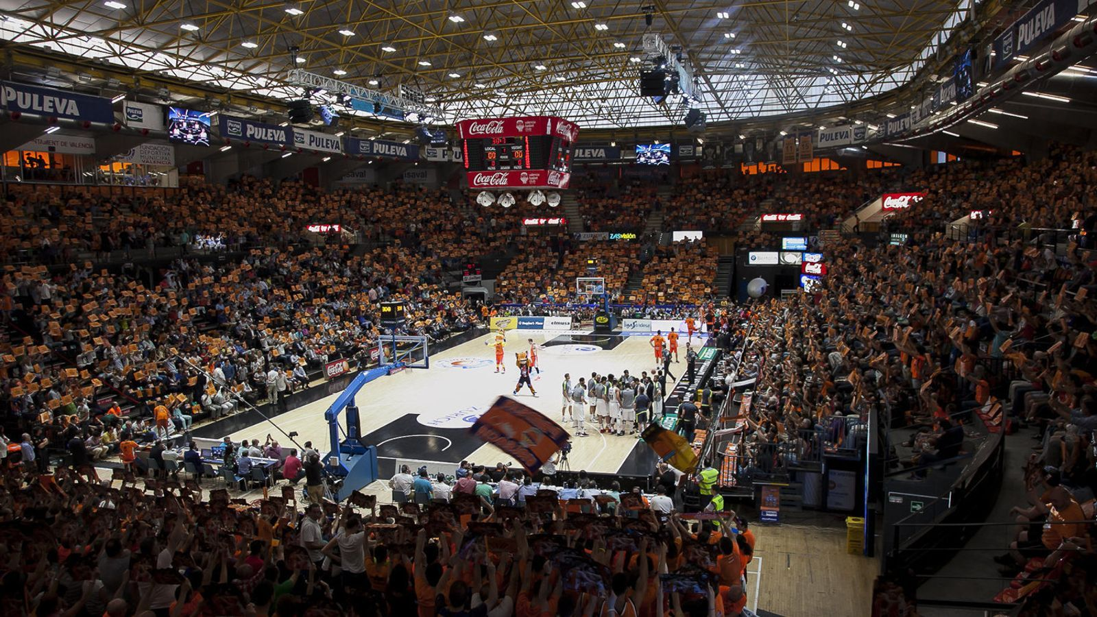 El pavelló en què sol jugar  el València Basket serà l'escenari de  la final de la Lliga Endesa,  però sense espectadors.