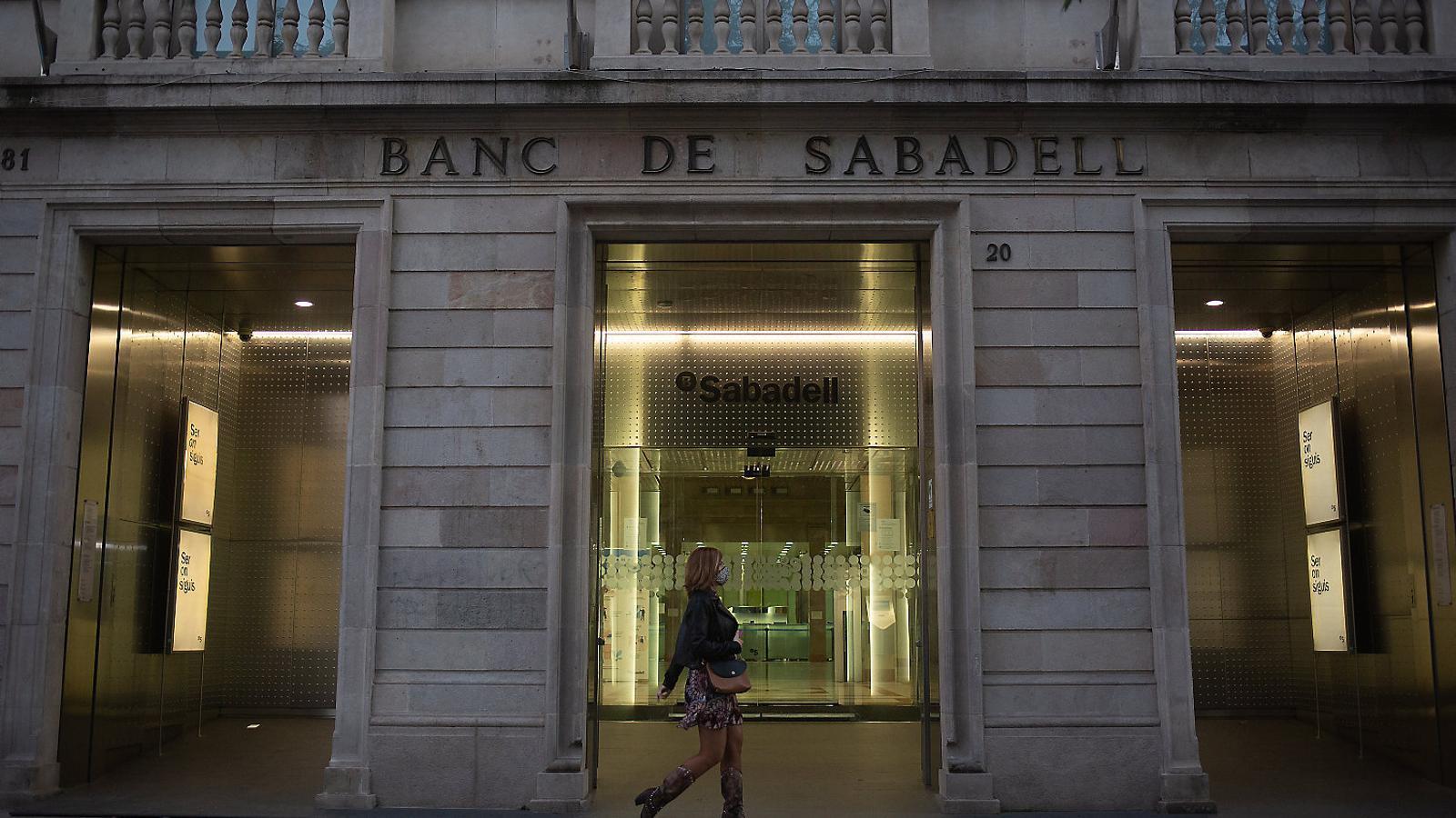 La seu històrica del Banc Sabadell a Sabadell, aquesta setmana.
