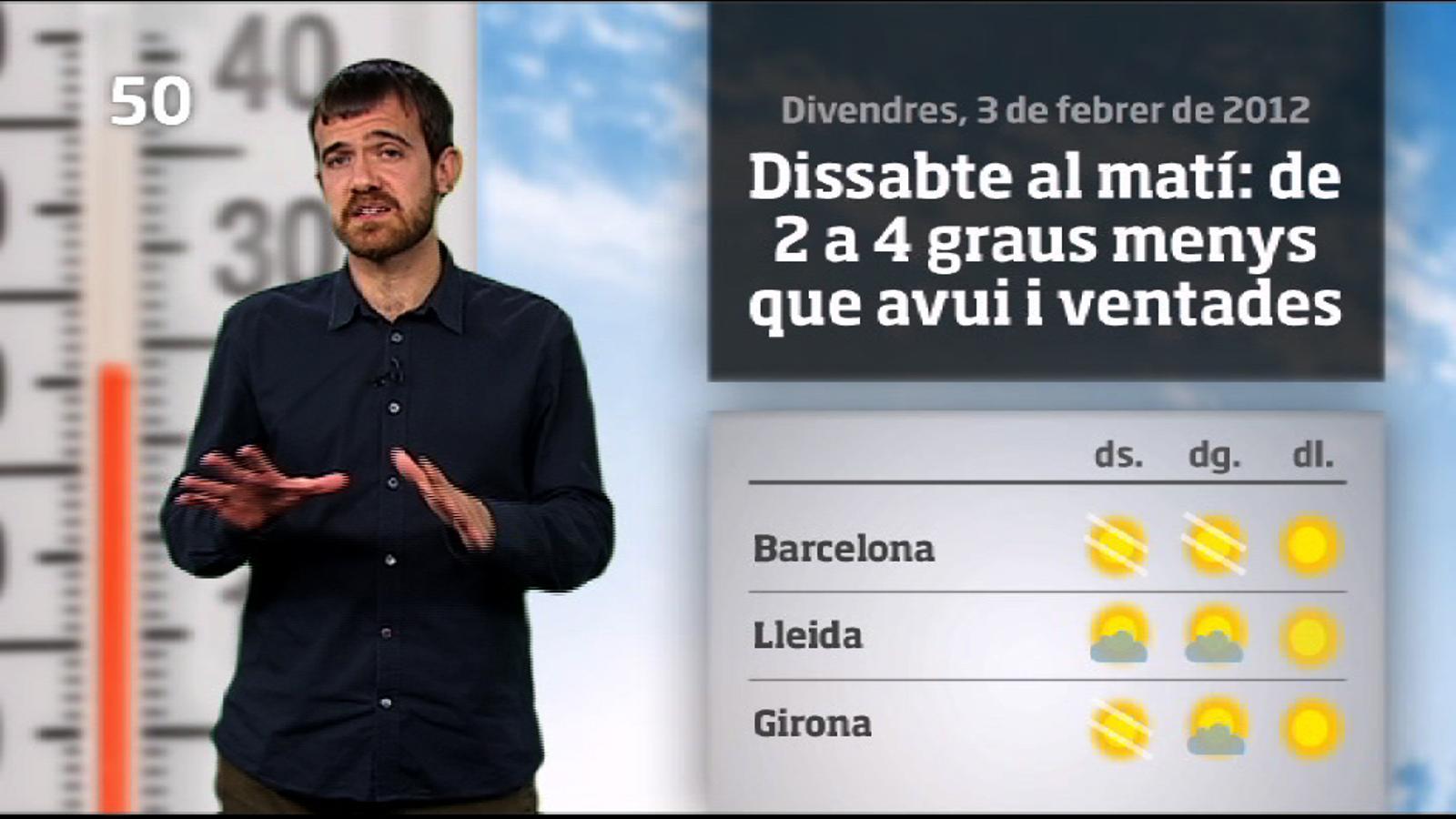 La méteo en 1 minut: temperatures encara més baixes (04/02/2012)