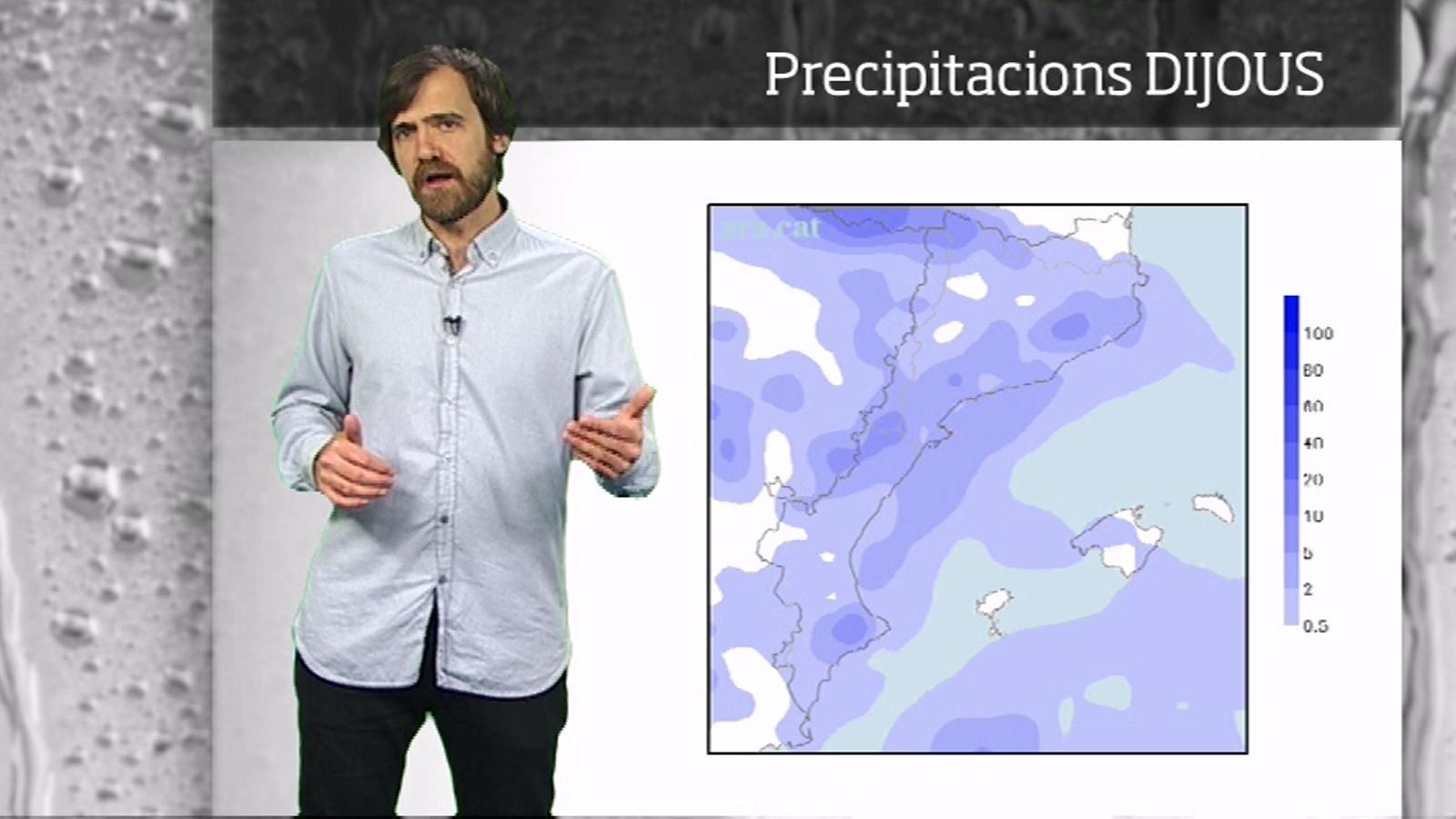 La méteo en 1 minut: xàfecs i temps més variable a partir de dijous