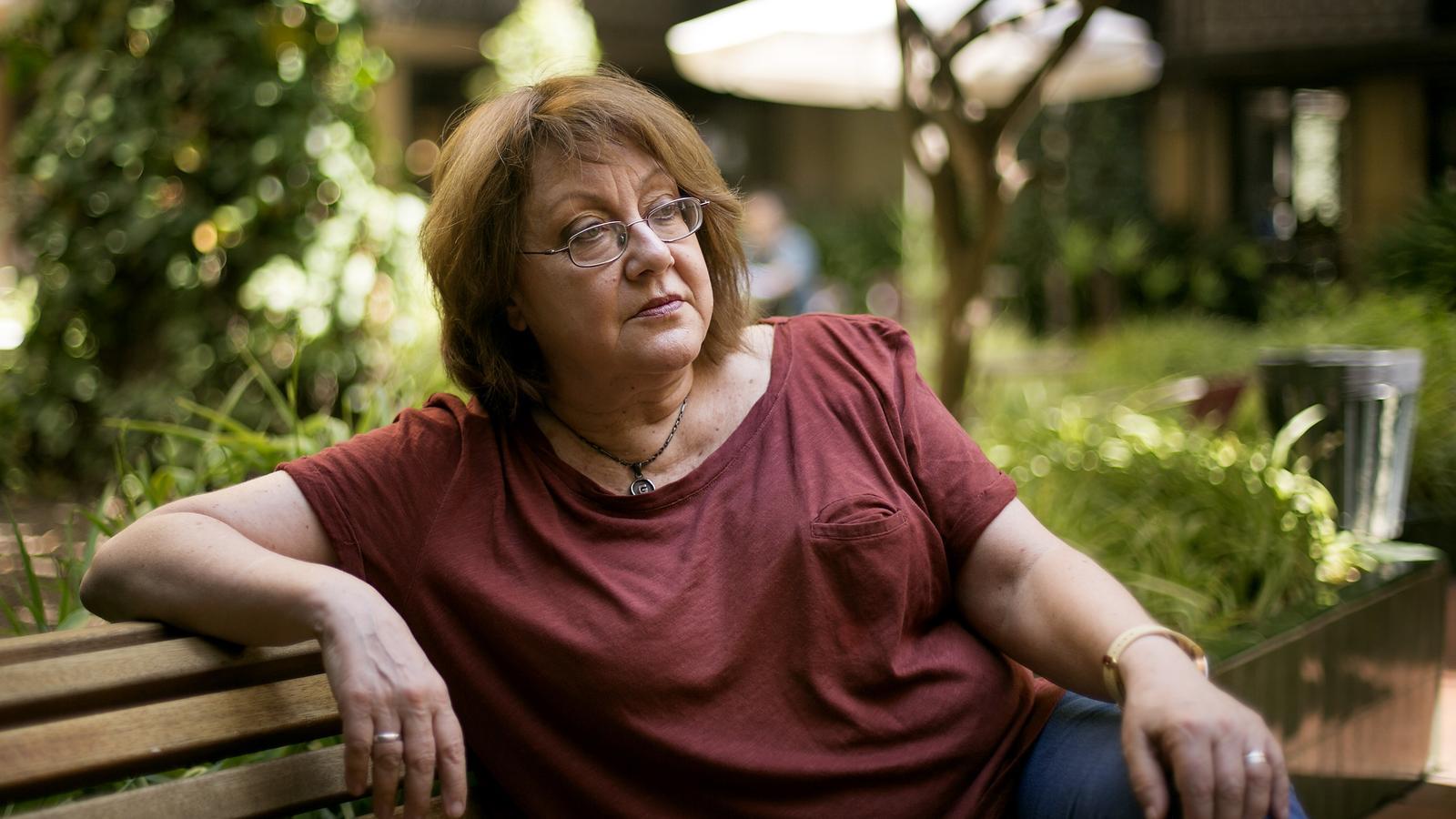 Patricia Gabancho, al jardí de l'Ateneu Barcelonès