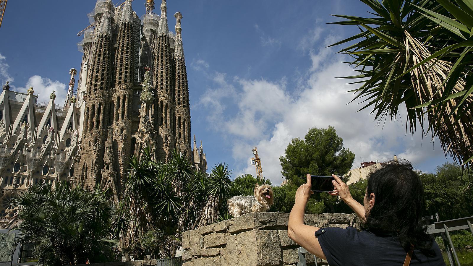 La Sagrada Família sense turistes.