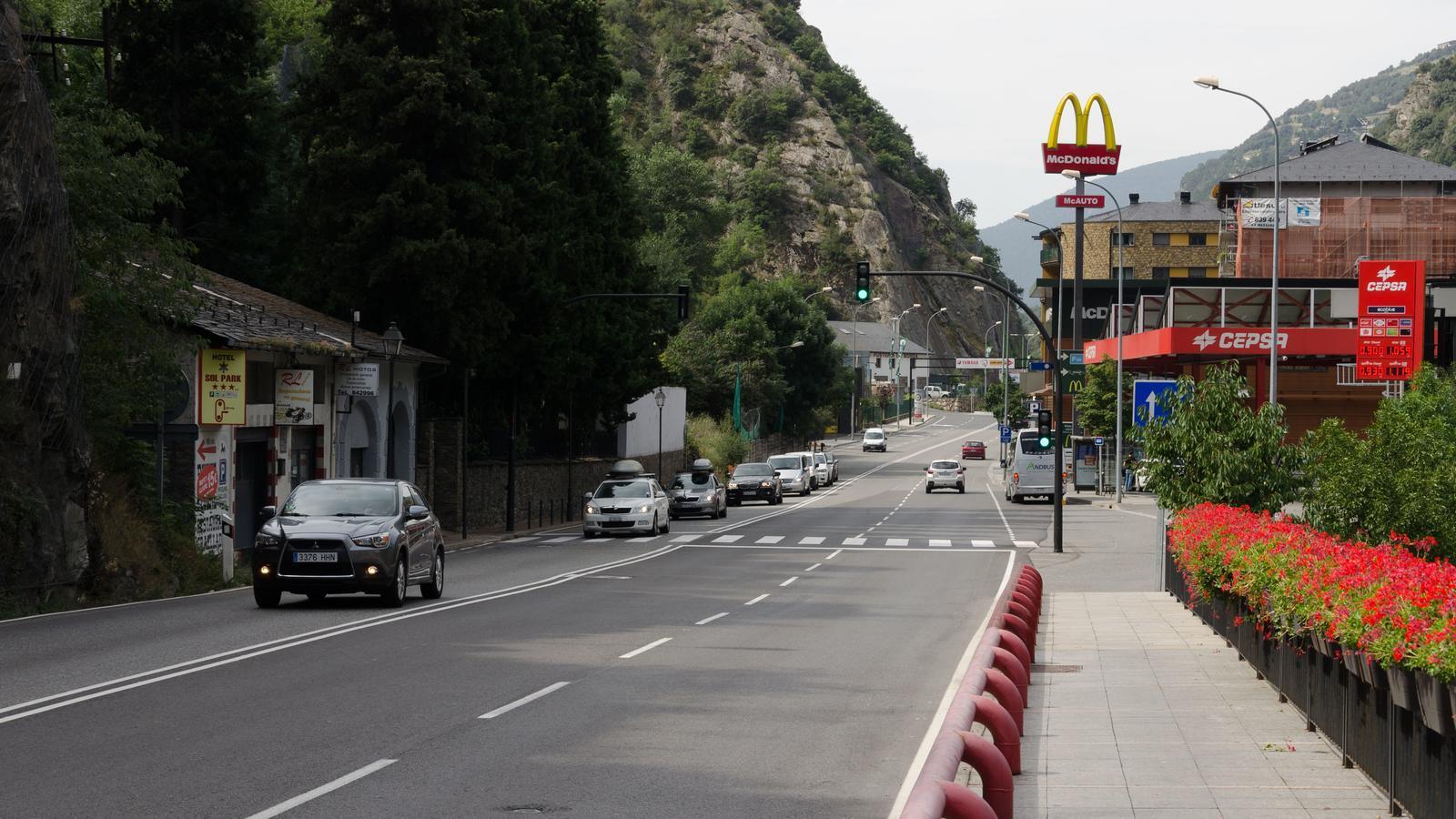 La Carretera General 1 a l'alçada de Fontaneda. / ARXIU ANA