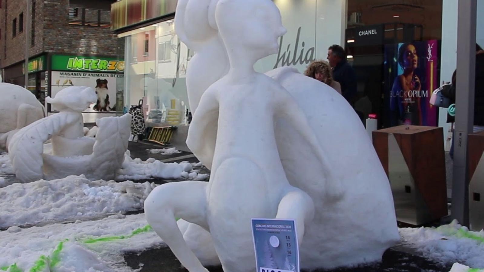 Concurs d'escultures de neu del Pas de la Casa