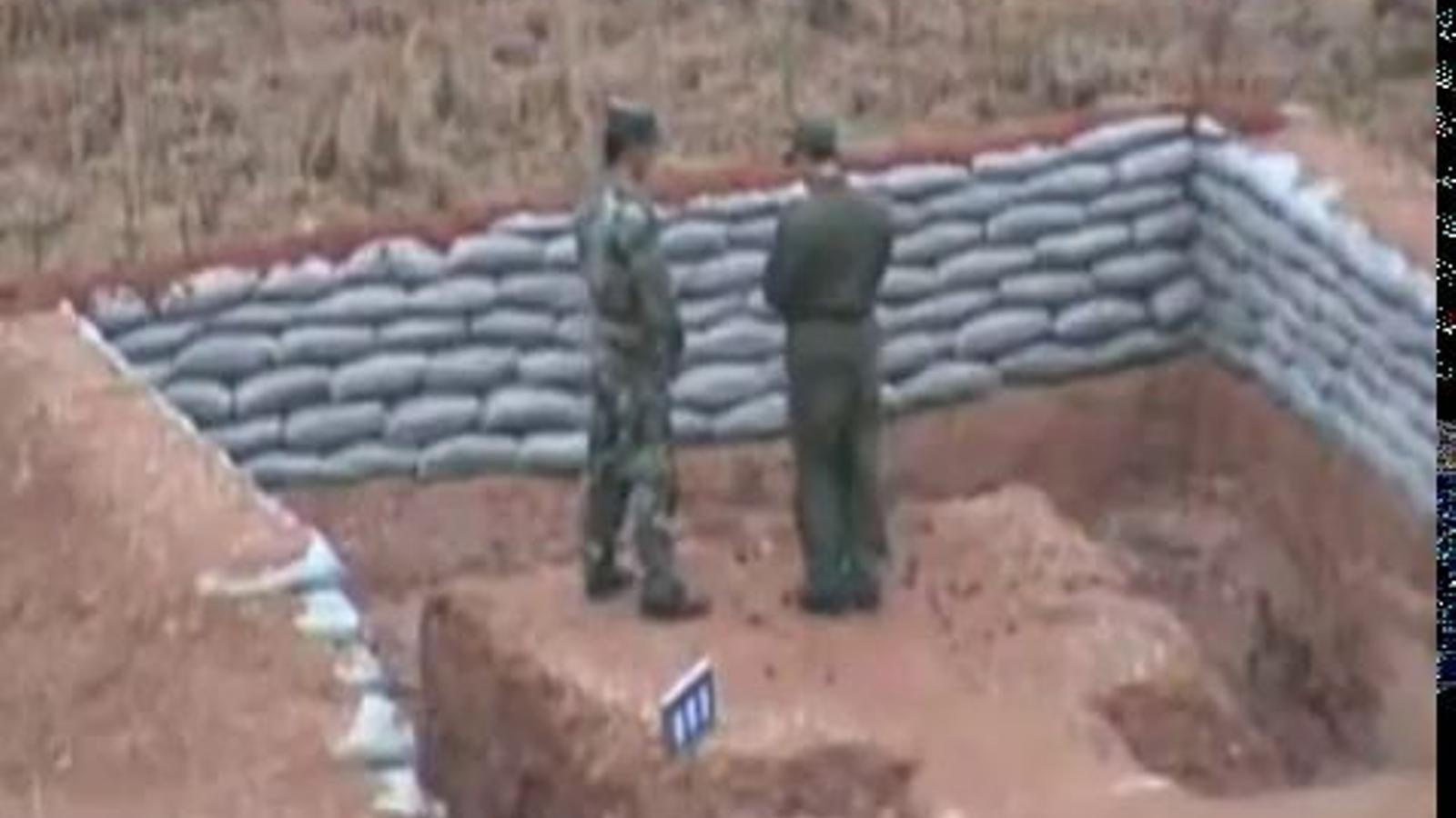 Un militar xinès amb mans de mantega gairebé perd la vida durant un entrenamet amb una granada