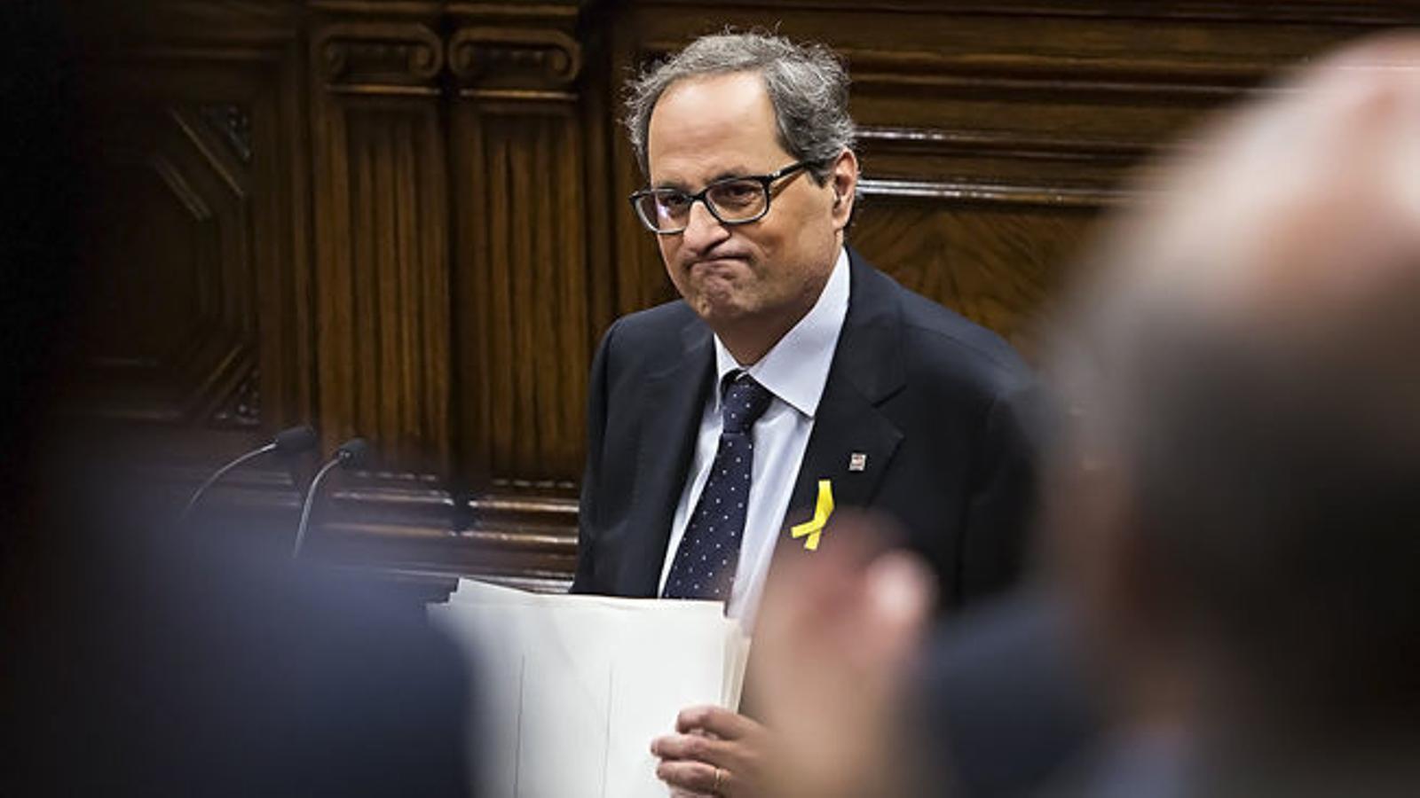 El TC adverteix Torra i tot el Govern de les conseqüències de contravenir la suspensió de les resolucions del Parlament