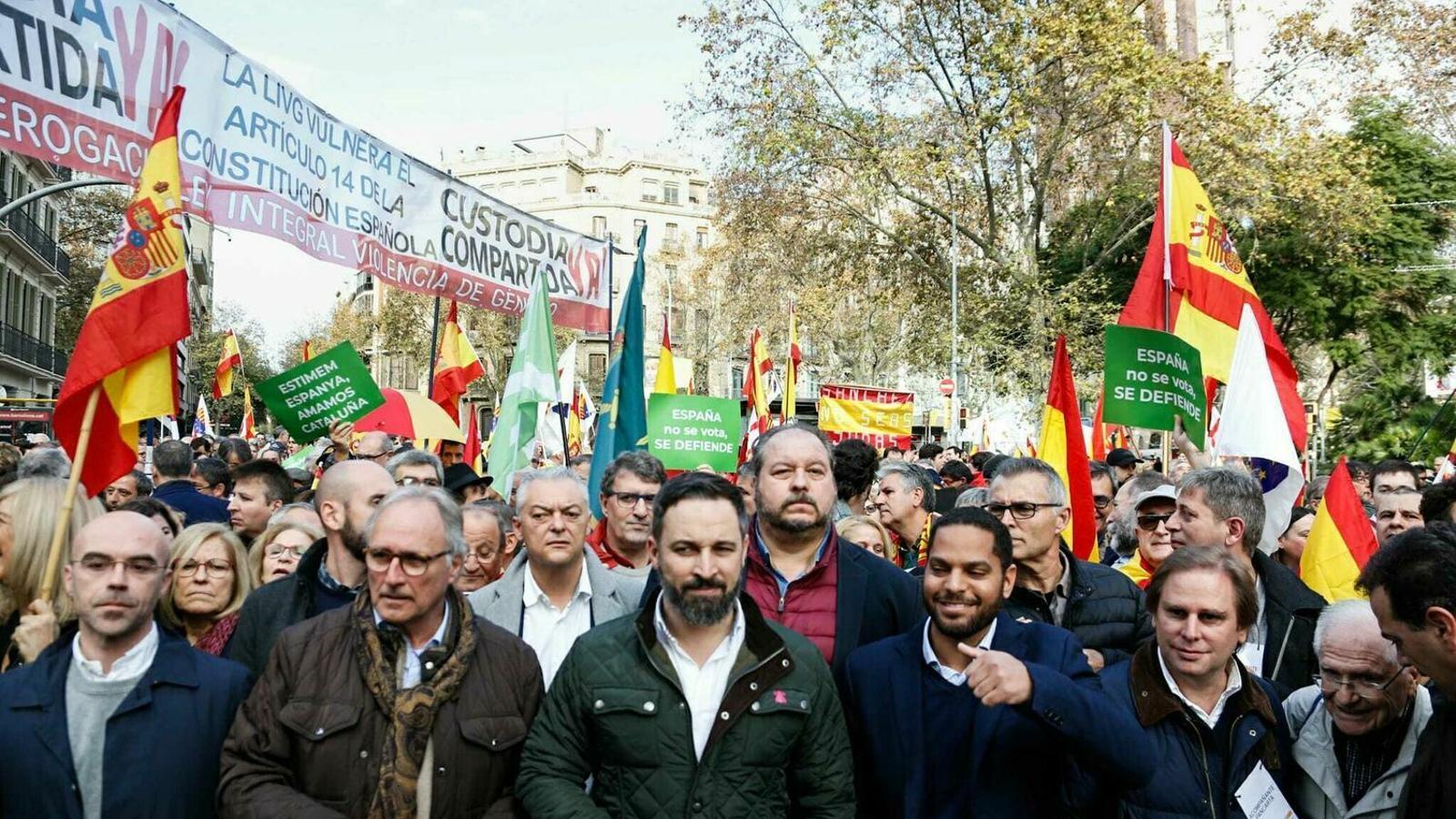 """Unes 1.500 persones surten al carrer a favor de la Constitució i d'un govern """"constitucionalista"""""""