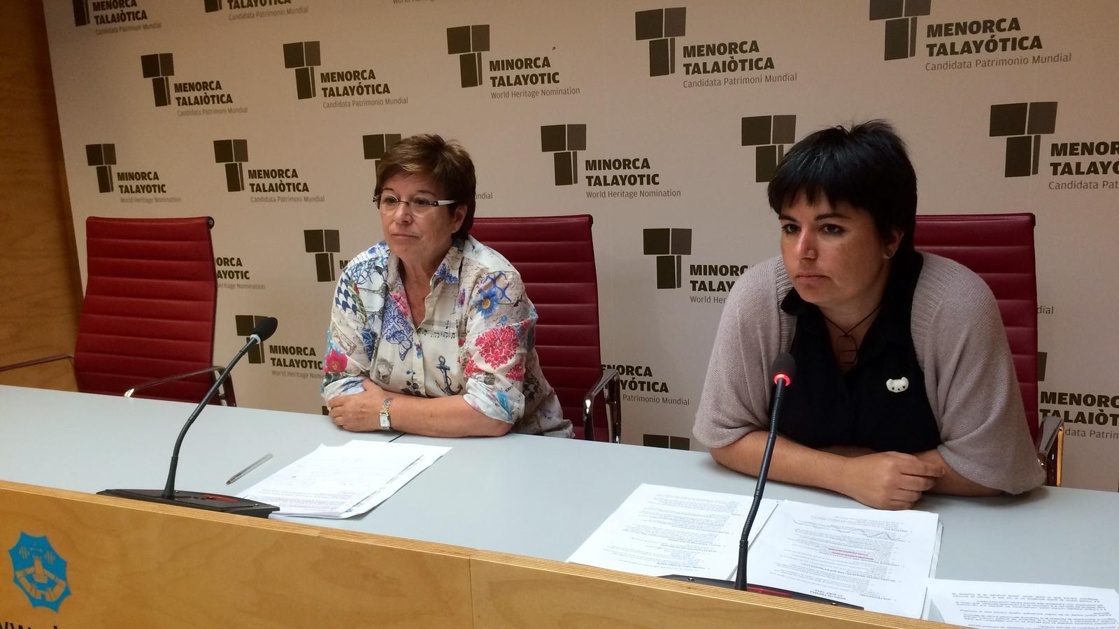 Maria Cabrisas i Laia Obrador, durant la presentació del projecte pilot.