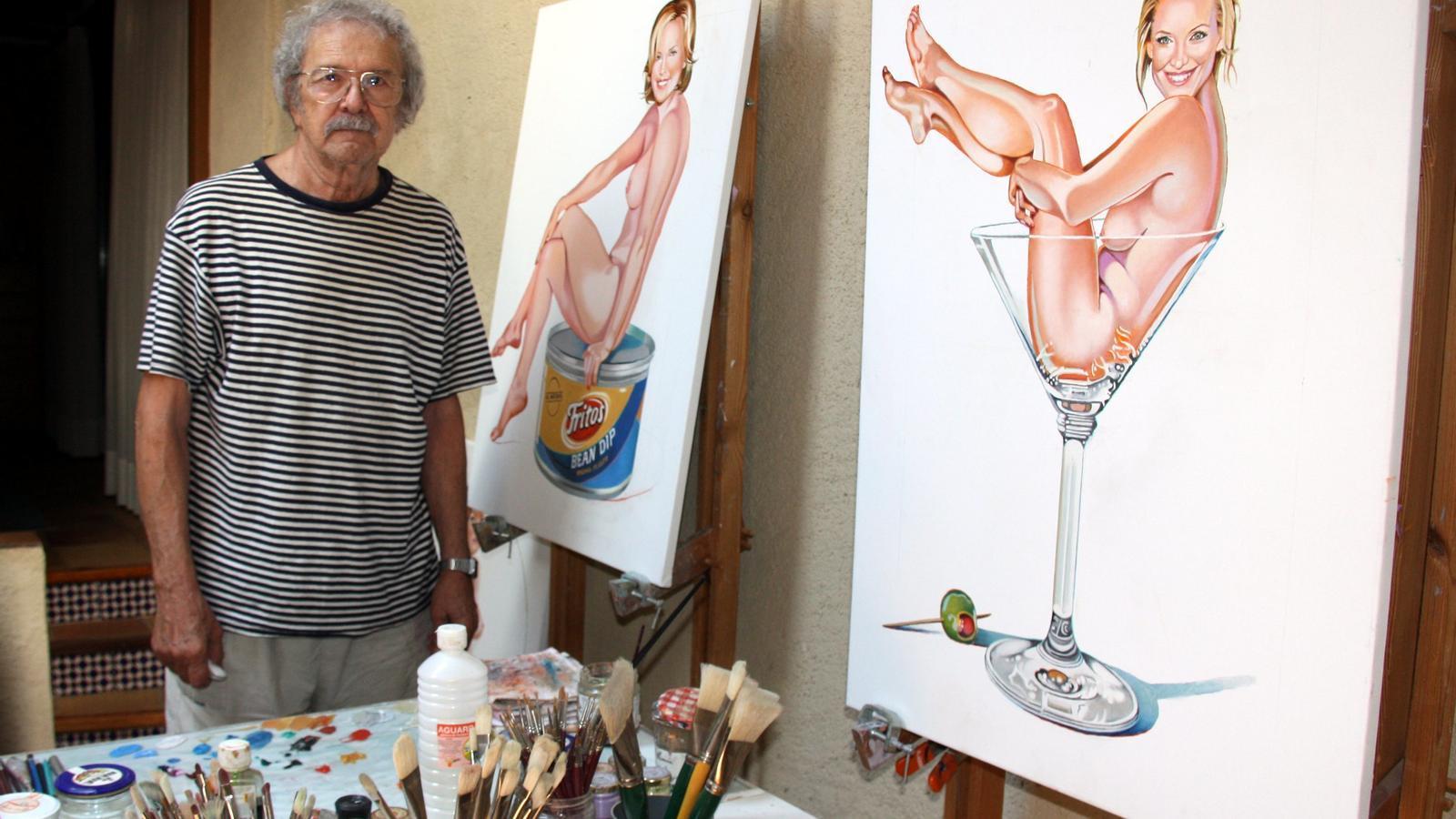 Mor Mel Ramos, l'artista pop que pintava 'pin-ups' abraçades a productes comercials
