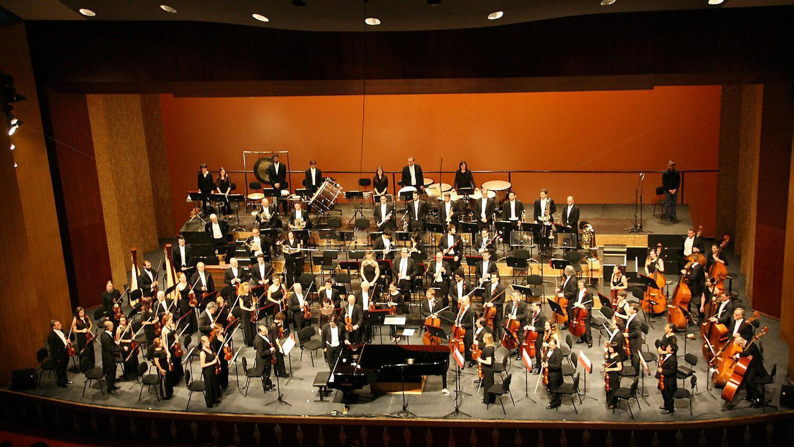 Imatge d'arxiu d'un concert de la Simfònica a l'Auditòrium