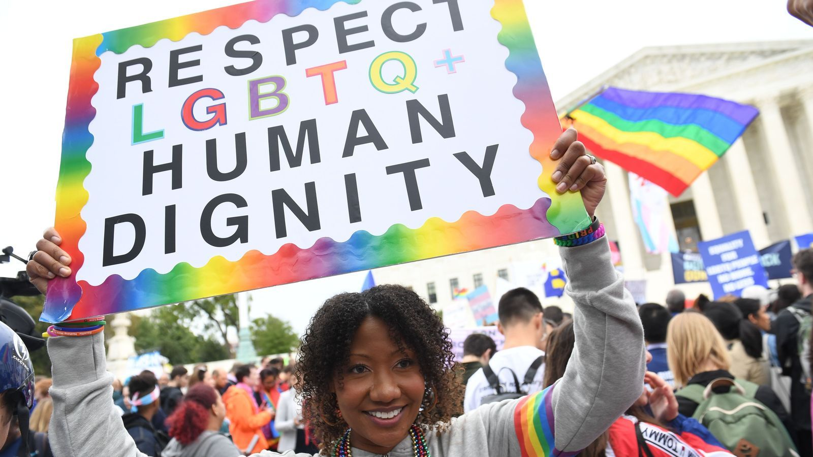Manifestants a favor dels drets de la comunitat LGTBI, davant del Tribunal Suprem a Washington, en una imatge d'arxiu