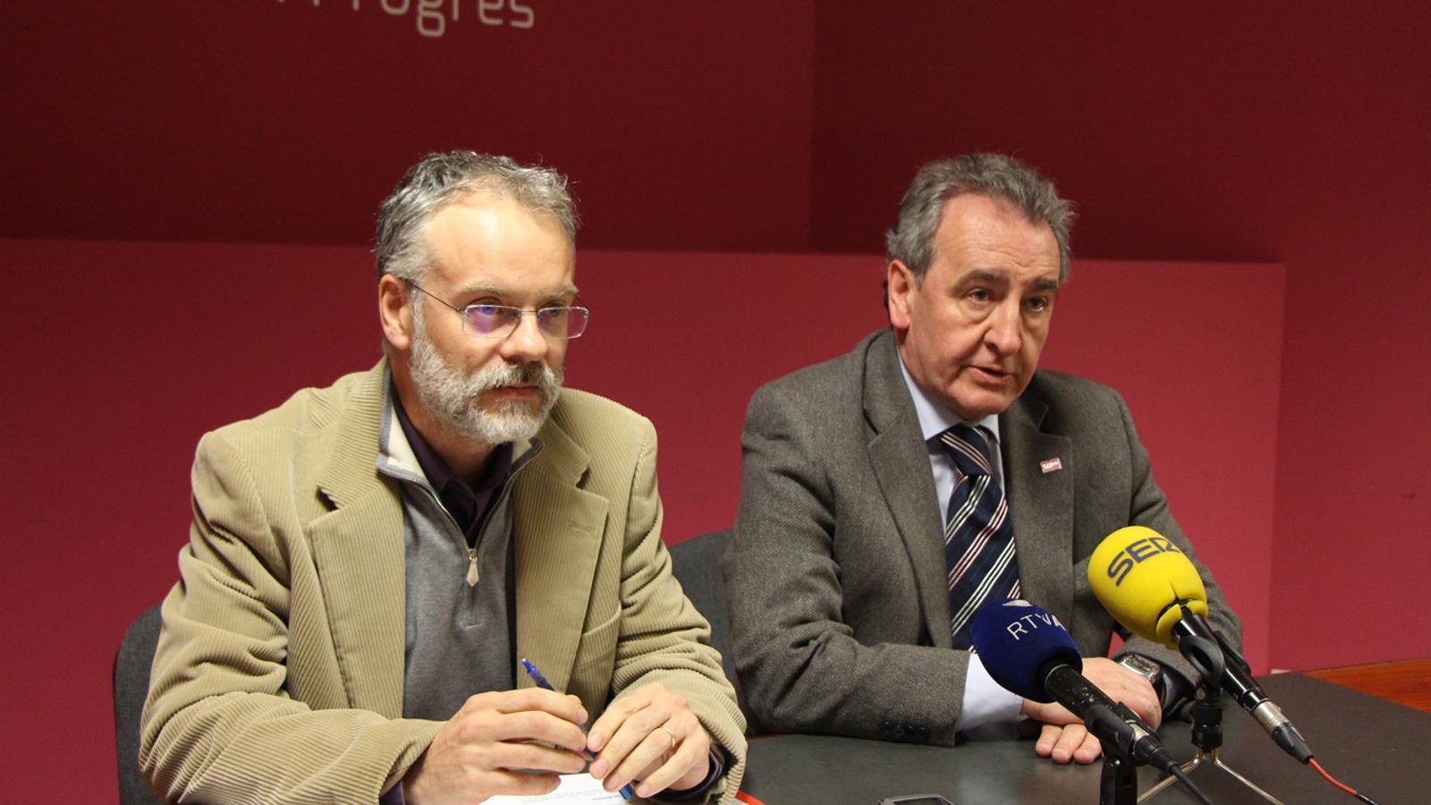 osep Roig i Jaume Bartumeu en roda de premsa / ARXIU ANA