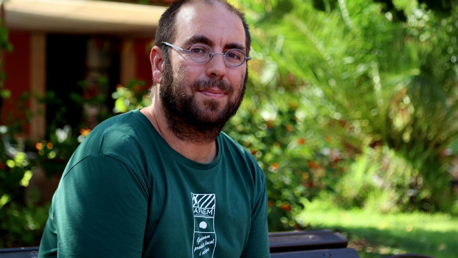 Xavier Mas, portaveu de la Plataforma Antiautopista de Campos