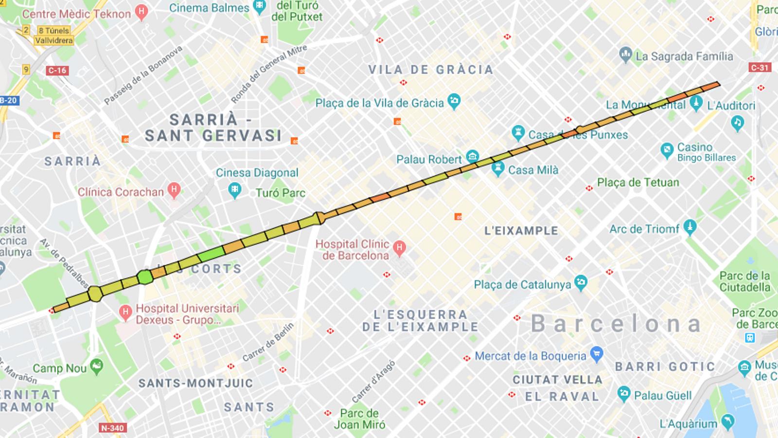 Mapa Trams Diada 2018.Diada 2018 Aixi Es Va Omplint Tram Per Tram