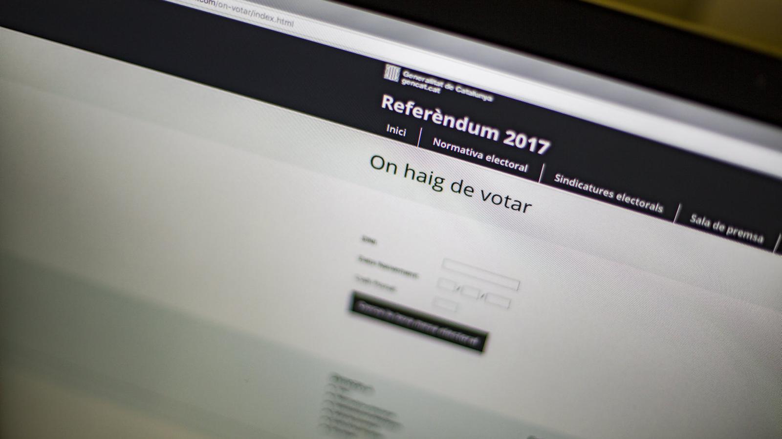 El Govern ha rebut ajuda d'un fundador de The Pirate Bay per a la nova web del referèndum.