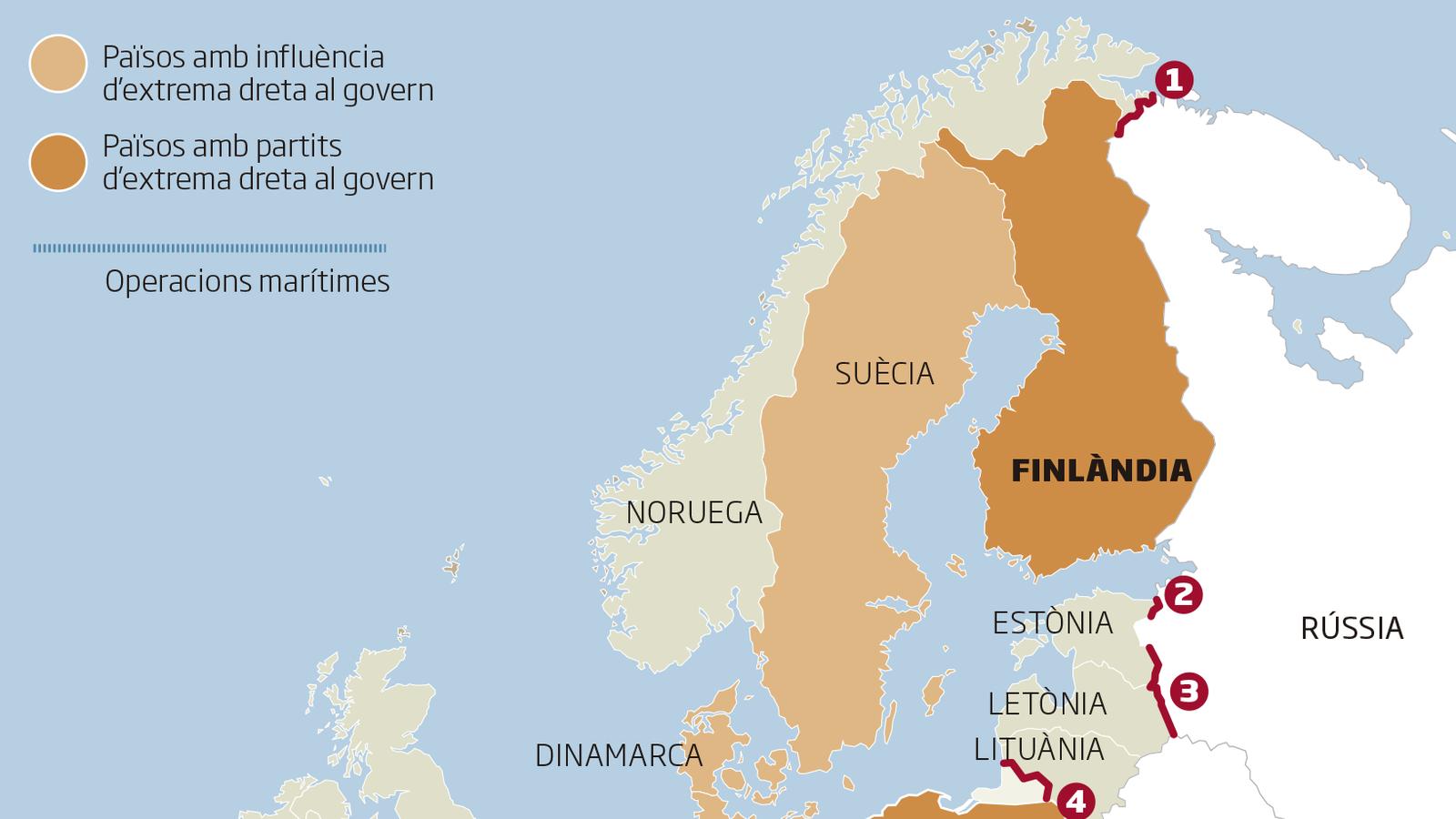 Infografia dels murs i l'auge de la ultradreta a Europa