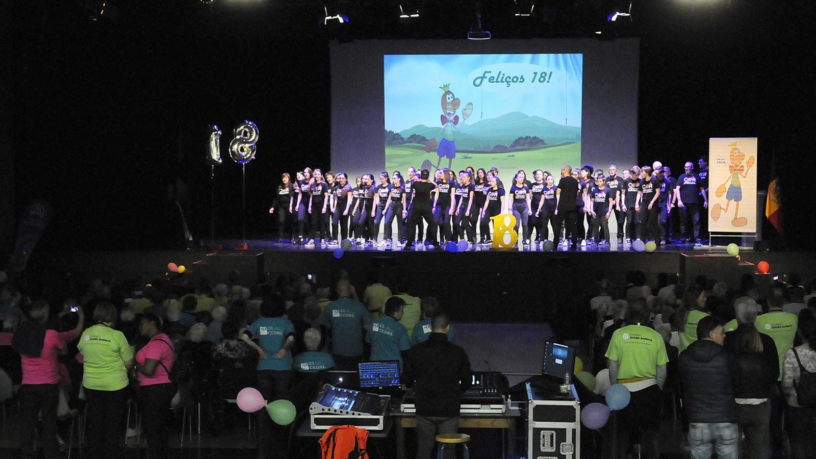 Un moment de la 18a Trobada esportiva de residències d'Andorra i la Seu d'Urgell. / SFG