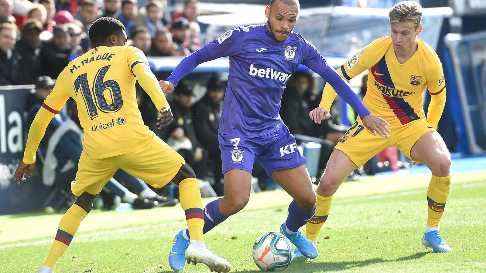 Braithwaite en un partit contra el Barça.