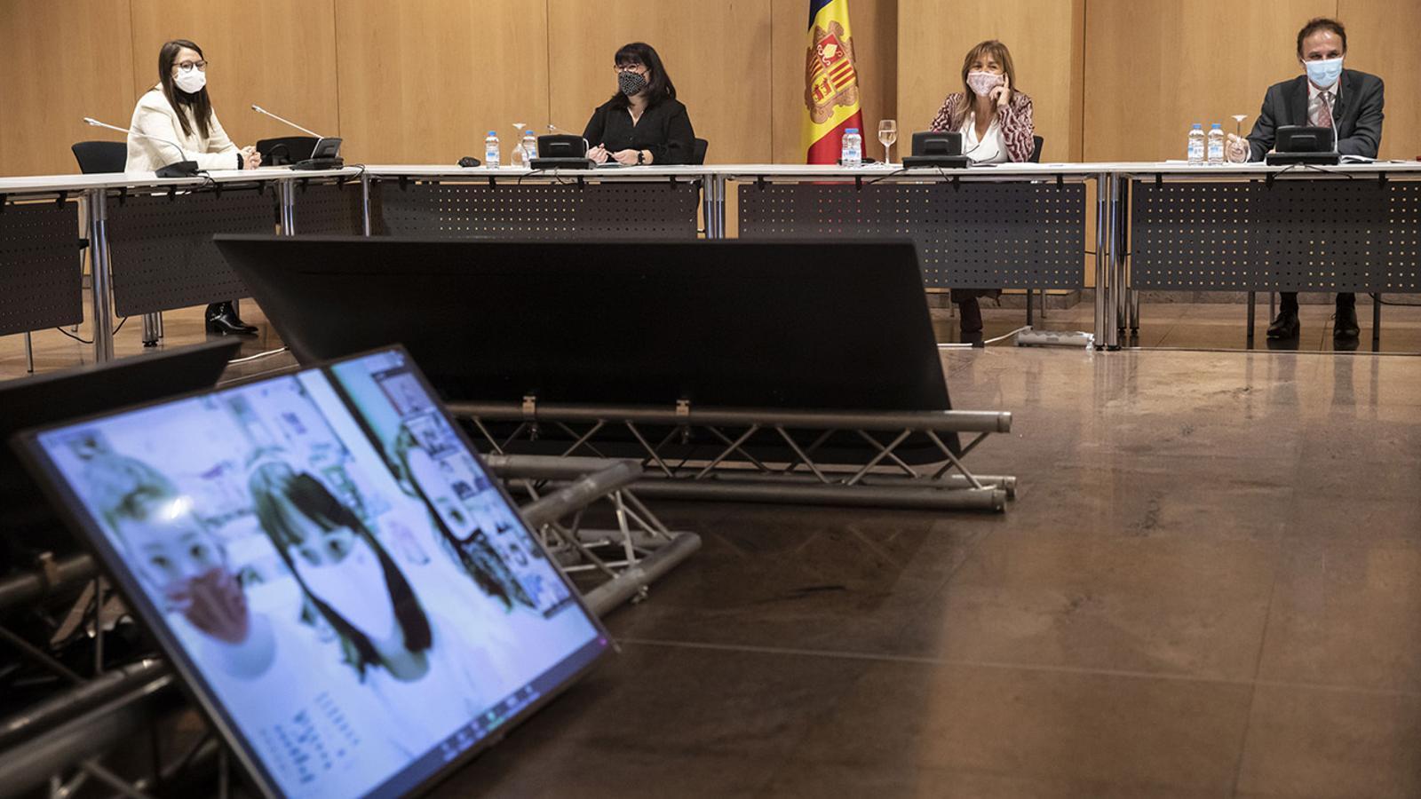 Un moment de la sessió constitutiva del consell d'infants d'Andorra la Vella. / COMÚ D'ANDORRA LA VELLA