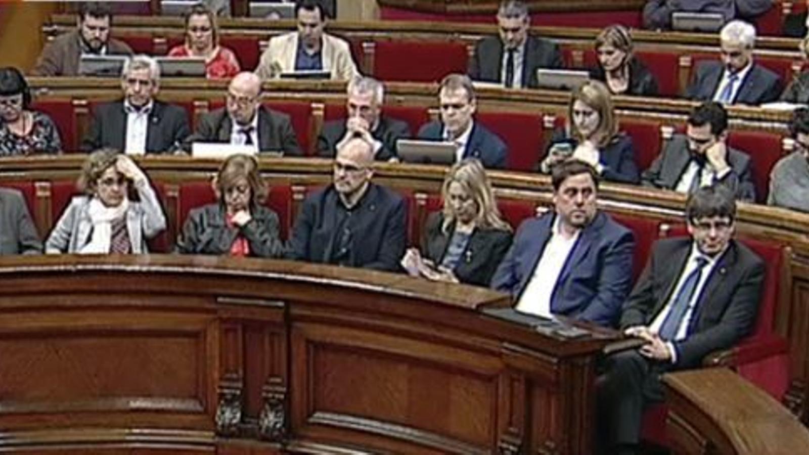 El debat dels pressupostos al Parlament, en directe