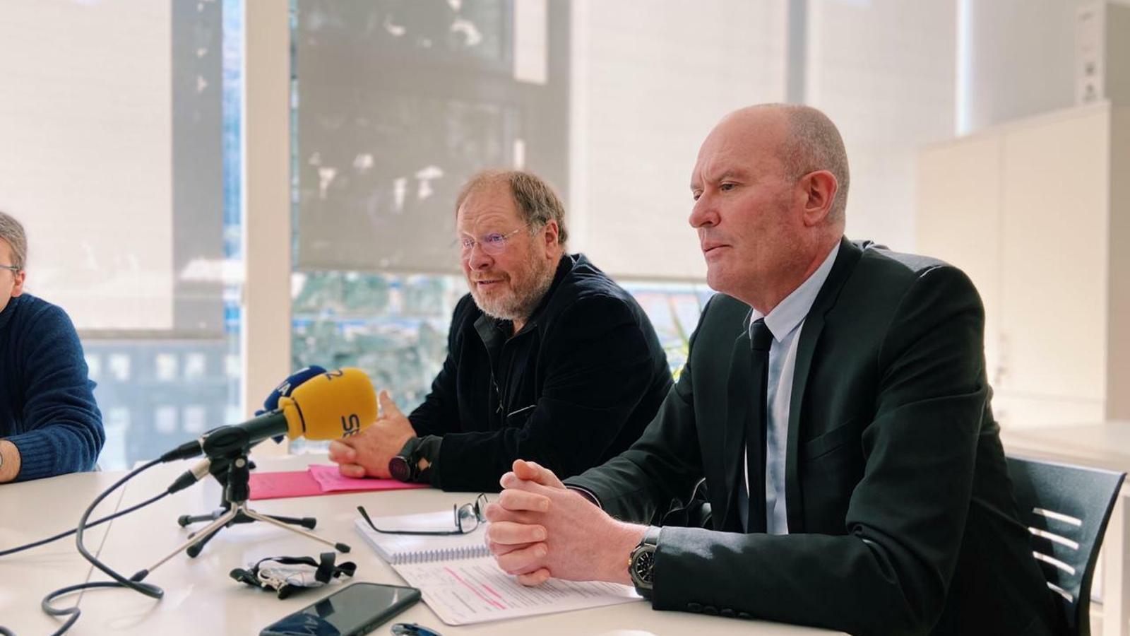 Els consellers generals socialdemòcrates Joaquim Miró i Jordi Font. / PS