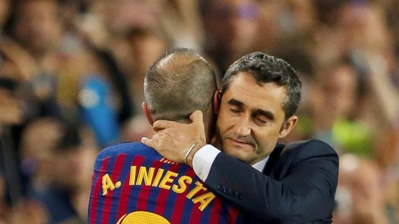 Andrés Iniesta i Ernesto Valverde