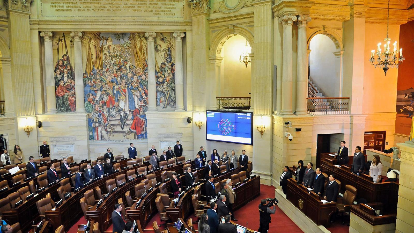 Una vista de la Cambra de Representants de Colòmbia en la votació d'aquest dimecres.