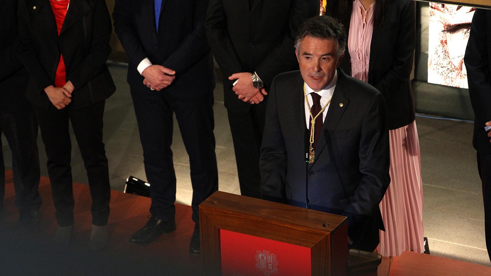 El síndic general, Vicenç Mateu, durant el discurs. / M. M. (ANA)