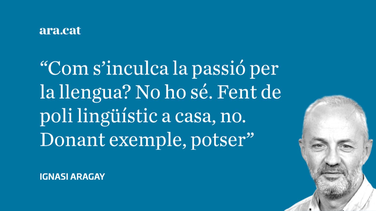 El 'catanyol' campa alegrement: no sé si ho 'pilleu'