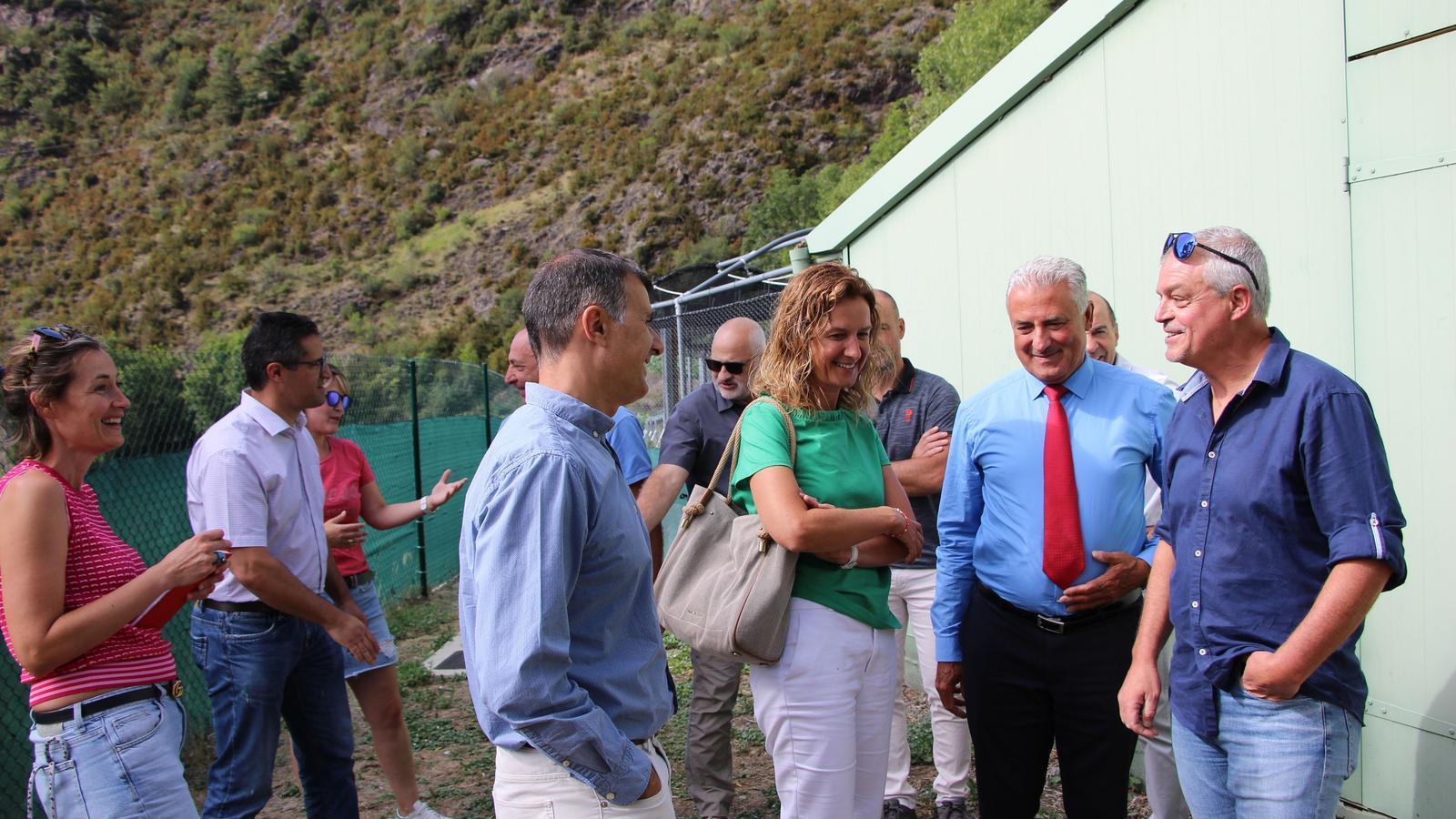La ministra Calvó amb el president Cabanes. / C. A.