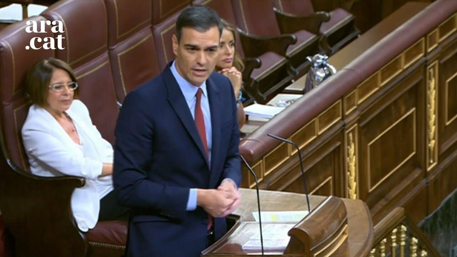 """Sánchez: """"Si no volen que el govern depengui dels independentistes, s'han d'abstenir"""""""