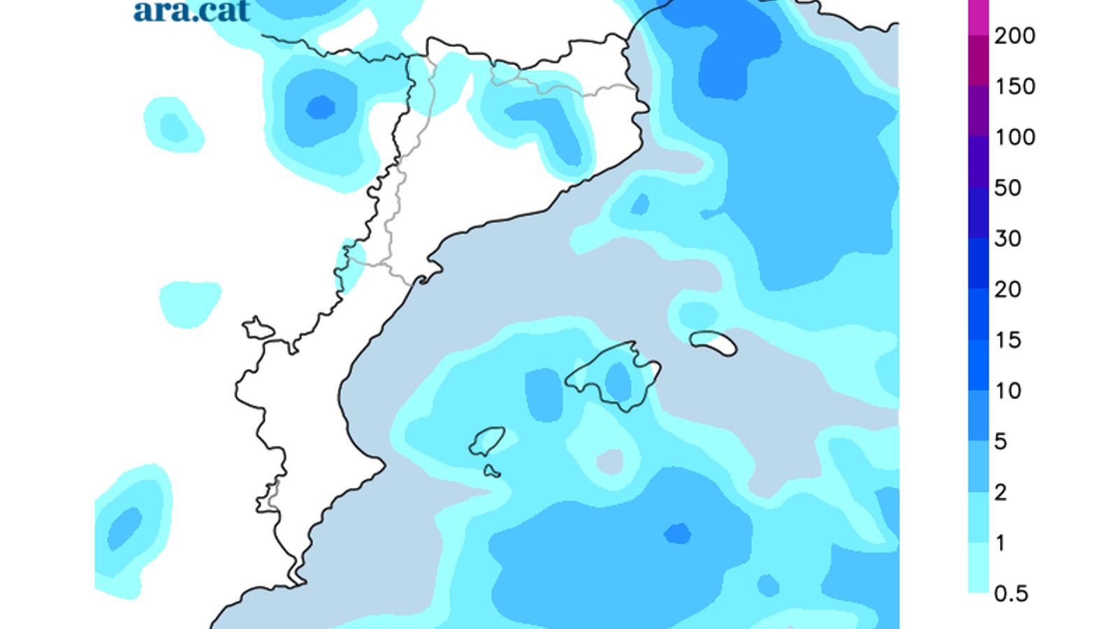 Precipitació prevista per avui