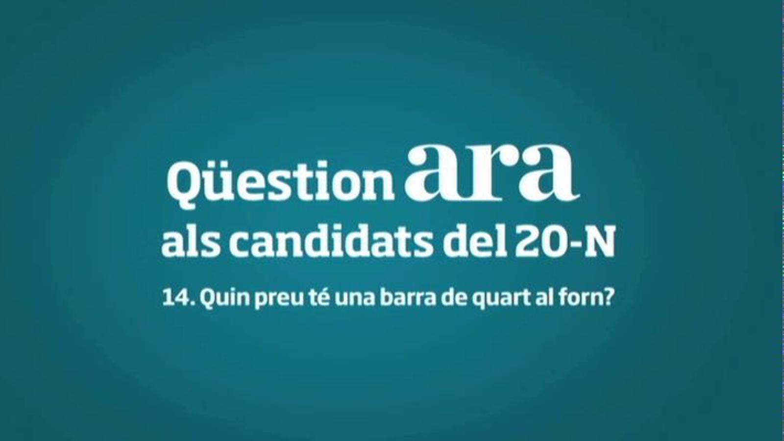 A quin preu paga cada candidat la barra de quart al forn?