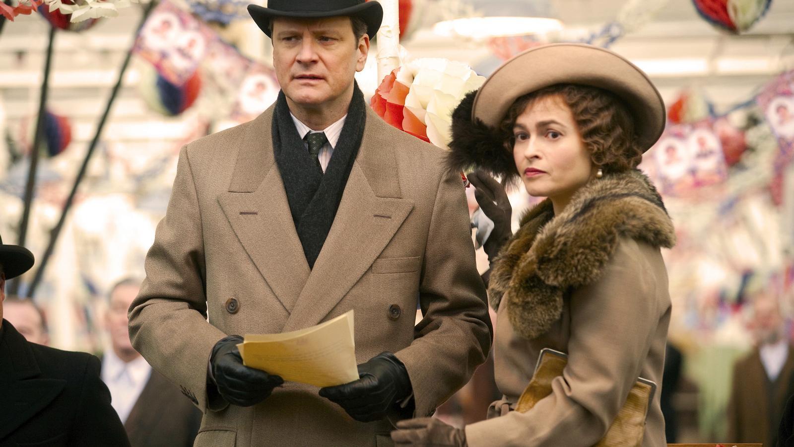 Fotograma de 'El discurs del rei', amb els actors Colin Firth i Helena Bonham Carter