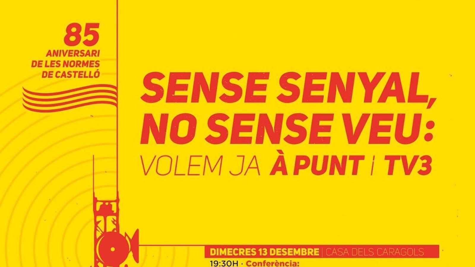 Cartell de la jornada commemorativa del 85 aniversari de les Normes de Castelló.