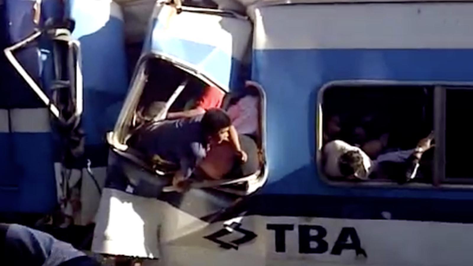 Els primers instants després de l'accident de tren a Buenos Aires