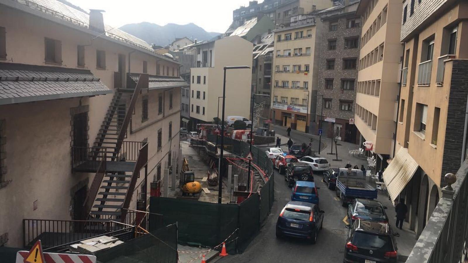 La zona de Ciutat de Valls en el moment de l'incident.